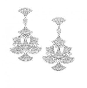 Bulgari and Rome - White gold earrings with Diva diamonds. Inspiration Baths of Caracalla